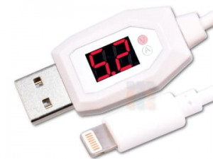 Tester USB Iphone kabel USB woltomierz amperomierz